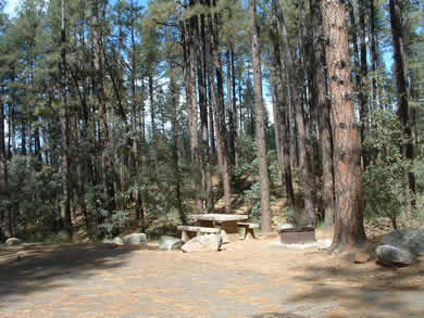 A Campsite At Groom Creek Campground