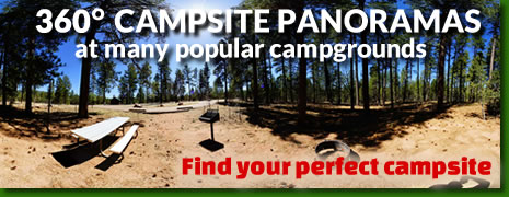 360 degree campsite Panoramas - Find the perfect site