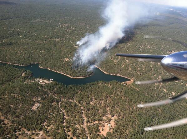 Woods Canyon Fire Starts Near Lake