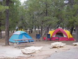 Camping at Mather Campground.
