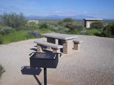 A campsite at McDowell Mountain Regional Park.