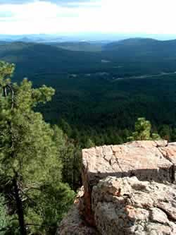 100 mile views from the Mogollon Rim!