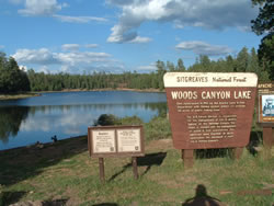 Woods Canyon Lake is the most popular outdoor recreation area in Arizona