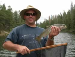 A nice rainbow trout from Woods Canyon Lake