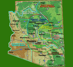 Arizona Campground Map